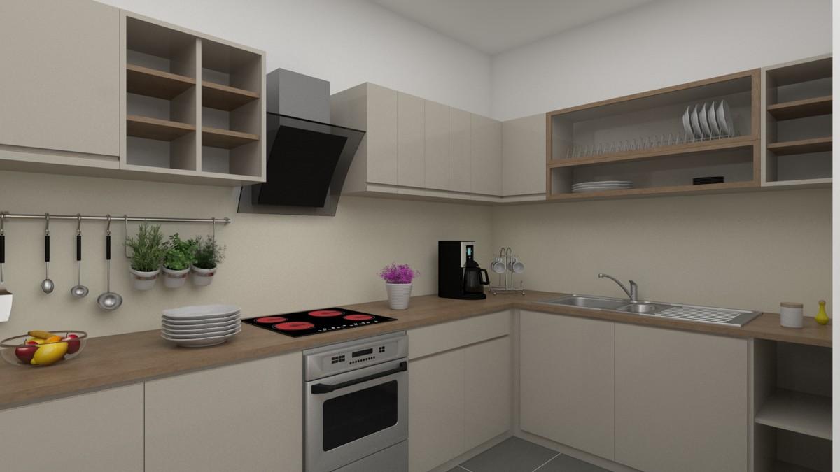 Küche mit Einrichtungsvorschlag