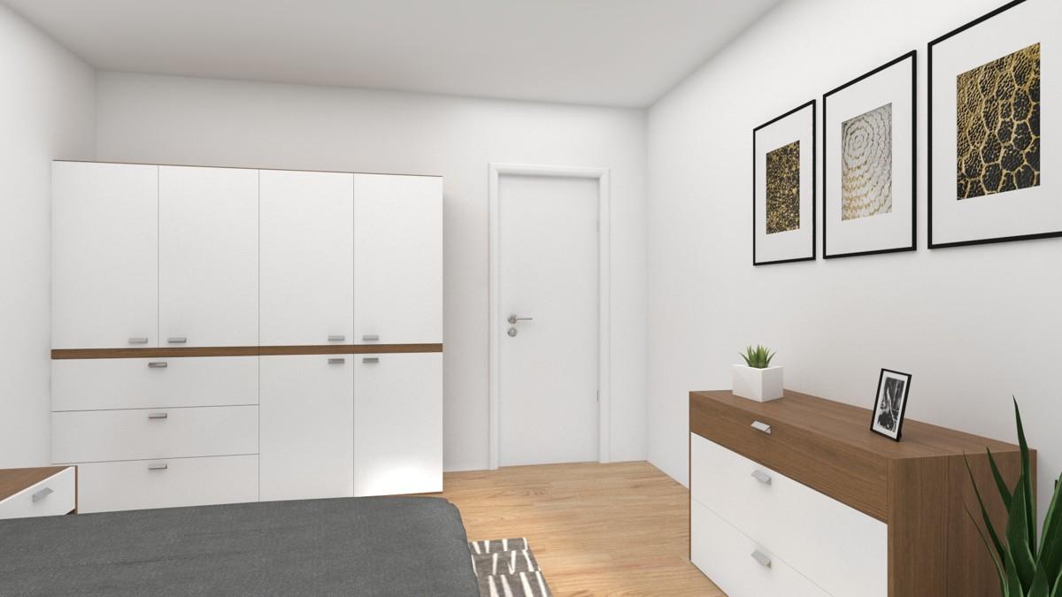 Schlafzimmer mit Einrichtungsvorschlag