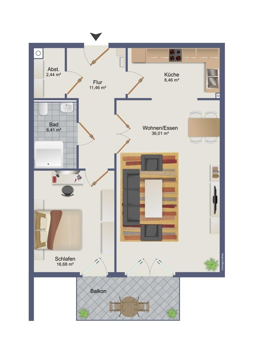 Grundriss Wohnung 14